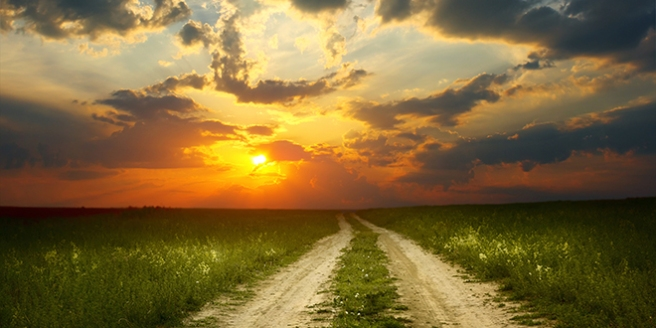 nature-sunset-road